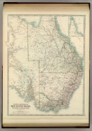 South Australia, New South Wales, Victoria & Queensland. (with) Cape York Peninsula. By Keith Johnston, F.R.S.E. Keith Johnston's General Atlas. Engraved, Printed, and Published by W. & A.K. Johnston, Edinburgh & London.