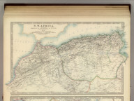 N.W. Africa, Comprising Marocco, Algeria & Tunis. By Keith Johnston, F.R.S.E. Keith Johnston's General Atlas. Engraved, Printed, and Published by W. & A.K. Johnston, Edinburgh & London.