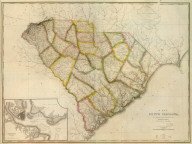 (Composite of) A Map Of South Carolina, Constructed and Drawn from the District Surveys, ordered by the Legislature: by John Wilson, late Civil & Military Engineer of So: Cara. The Astronomical Observations by Professor Geo: Blackburn & I.M. Elford. Engraved by H.S. Tanner Philadelphia. Entered according to Act of Congress, the 10th day of April 1822, by John Wilson, Agent of the Board of Public Works of the State of South Carolina.