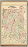 County and township map of Vermont and New Hampshire. Copyright 1886 by Wm. M. Bradley & Bro.