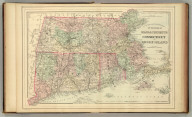 County and township map of the states of Massachusetts, Connecticut and Rhode Island. Drawn and engraved by W.H. Gamble, Philadelphia. Copyright 1886 by Wm. M. Bradley & Bro.