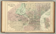 Plan of the city of Philadelphia and Camden. Drawn and engraved by W.H. Gamble. Copyright 1886 by Wm. M. Bradley & Bro.