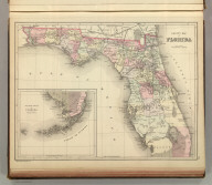 County map of Florida. Copyright 1886 by Wm. M. Bradley & Bro.