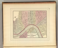 Plan of New Orleans. Copyright 1886 by Wm. M. Bradley & Bro.