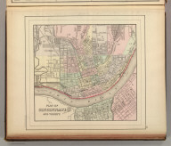 Plan of Cincinnati and vicinity. Copyright 1886 by Wm. M. Bradley & Bro.