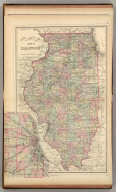 County & township map of the state of Illinois. (with) Chicago and vicinity. Copyright 1886 by Wm. M. Bradley & Bro.