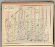 Plan of the city of Detroit. Copyright 1886 by Wm. M. Bradley & Bro.