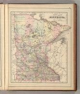 County map of Minnesota. Copyright 1886 by Wm. M. Bradley & Bro.