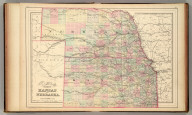 County & township map of the states of Kansas and Nebraska. Copyright 1886 by Wm. M. Bradley & Bro.