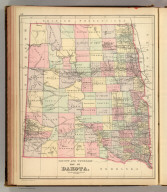 County and township map of Dakota. Copyright 1886 by Wm. M. Bradley & Bro.