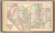County and township map of Utah and Nevada. W.H. Gamble, Sc. Copyright 1884 (and 1886) by Wm. M. Bradley & Bro.