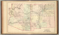 County and township map of Arizona and New Mexico. Copyright 1886 by Wm. M. Bradley & Bro.