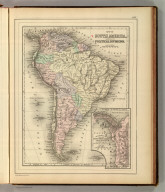 Map of South America, showing its political divisions. (with) Map showing the proposed Atrato-Inter-Oceanic Canal routes, for connecting the Atlantic and Pacific oceans. Copyright 1886 by Wm. M. Bradley & Bro.