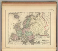 Map of Europe, showing its gt. political divisions. Constructed & engraved by W. Williams, Phila. Copyright 1886 by Wm. M. Bradley & Bro.