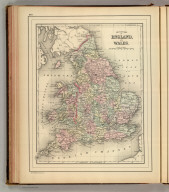 County map of England, and Wales. Copyright 1886 by Wm. M. Bradley & Bro.