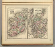 Ireland in provinces and counties. County map of Scotland. (with) Shetland Islands. Copyright 1886 by Wm. M. Bradley & Bro.