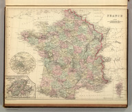 France. (with) Environs of Paris. (with) Switzerland in cantons. (with) Corsica. Copyright 1886 by Wm. M. Bradley & Bro.