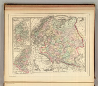 Russia in Europe, Sweden, and Norway. (with) Map of Denmark. (with) Map of Holland and Belgium. Copyright 1886 by Wm. M. Bradley & Bro.