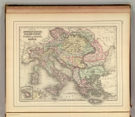 Map of the Austrian Empire, Italian States, Turkey in Europe, and Greece. (with) Maltese Islands. Copyright 1886 by Wm. M. Bradley & Bro.