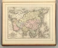 Map of Asia showing its gt. political divisions, and also various routes of travel between London & India, China & Japan &c. Constructed & engraved by W. Williams, Phila. Copyright 1886 by Wm. M. Bradley & Bro.