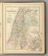 A new map of Palestine or the Holy Land. (with) Modern Jerusalem. Drawn and engraved by W.H. Gamble, Philada. Copyright 1884 by Wm. M. Bradley & Bro.