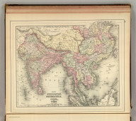 Map of Hindoostan, Farther India, China and Tibet. Copyright 1886 by Wm. M. Bradley & Bro.