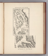 (Facsimile) From Vancouvers Atlas - Part of Chart No. XII, Part of Chart No. VII. Photo. Lith. by A. Hoen & Co., Baltimore, MD.