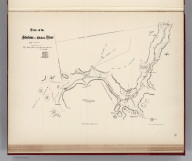 (Facsimile) Plan of the Stachine or Stickeen River. This is the plan referred to in my report dated 30th June, 1877, Signed Jos. Hunter. Photo. Lith. by A. Hoen & Co. Baltimore, MD. (Reduced from original scale).