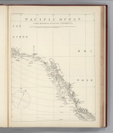 (Facsimile) Pacific Ocean. Cook River to Gulf of California (portion). London: Published at the Admiralty Oct. 1st. 1856 under the superintendence of Capt. Washington R.N. F.R.S. Hydrgrapher: Correction 1861. Augt. 62 Mar. 64. Mar. 65. XII 66. Sold by J.D. Potter Agent for the Admiralty Charts Alaskan Boundary Tribunal, 1903. 23. Photo. Lith. by A. Hoen & Co. Baltimore, MD.