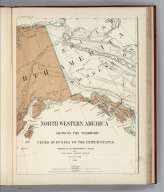 (Facsimile) North Western America Showing the Territory Ceded by Russia to the United States (portion) Compiled for the Department of State at the U.S. Coast Survey Office, B. Peirce, Supt. 1867. Alaskan Boundary Tribunal, 1903. 24. Photo. Lith. by A. Hoen & Co. Baltimore, MD.