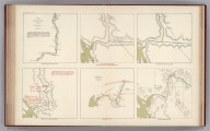 Facsimile: Six Comparison Maps of the Stickeen River 1863-1882 (portions).