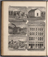 View: Residences Myran Gould, ex. Gov. Wood, Whitney and Holmes Organ Co. etc., Adams County, Illinois
