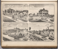 View: Residences of S.R. Chittenden, P. Young, Orville E. Riddle, Matthias Ralph, Adams County, Illinois.