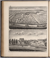 View: Residences of John Stewart, Alexander Collings, Adams County, Illinois.