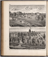 View: Residences of Samuel Jamison, John L. Moore, Adams County, Illinois.