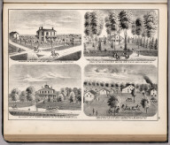 View: Residences A.Y. McCormick, H. Kent, J. Oliver Waddell, H. Kent, Adams County, Illinois.