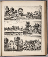 View: Residences of C.A. Smith, Mary Campbell, E.M. King, etc., Adams County, Illinois.