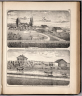 View: Residences of S.R. McAnulty, William Brown, Adams County, Illinois.