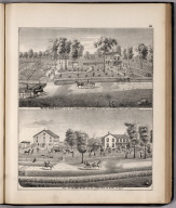 View: Residences of A.B. Kelley, George Rhea, Adams County, Illinois.