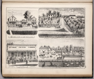 View: Residences of John DeGroot,, John Bedle. Businesses, Adams County, Illinois.