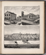 View: Residences of A.H.D. Buttz and A.H.D. Buttz Jr., etc., Adams County, Illinois.