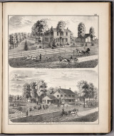 View: Residences of A.W. Larimore, Henry Long, Adams County, Illinois.