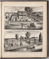 View: Farm Residences of Vincent Ridgely, Isaac Grove, Adams County, Illinois.