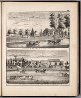 View: Residences of Geo. Baker, A.J. Cook, Adams County, Illinois.
