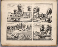 View: Residences of David Prince, P.E. Thompson, C.S. Butler Adams County, Illinois.