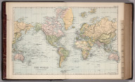 World on Mercator's Projection. 3