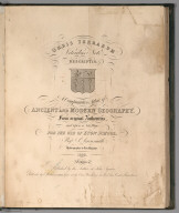 Title Page: A Comparative Atlas of Ancient And Modern Geography