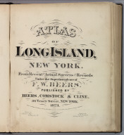 Title Page: Atlas Of Long Island, New York.
