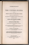 Title Page: Blodget's Climatology of the United States