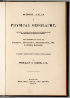 Title Page: A School Atlas Of Physical Geography